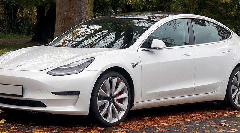 A 2019 Tesla Model 3 Performance AWD. Photo Credit: Vauxford, Wikipedia Commons