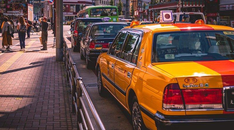 japan traffic taxi