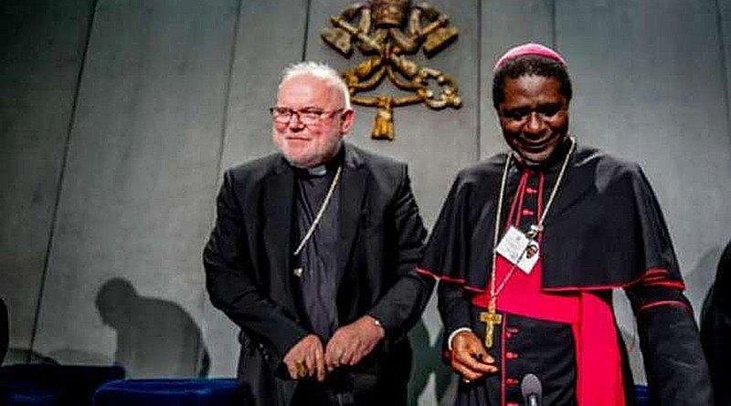 Bishop Andrew Nkea Fuanya at a Vatican press briefing, Oct. 24, 2018. Credit: CNA
