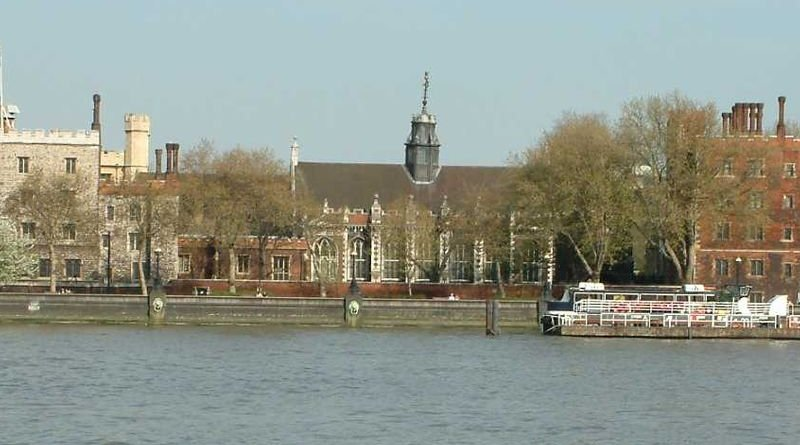 Lambeth Palace, photographed looking east across the River Thames, London. Photo Credit: Wikipedia Commons