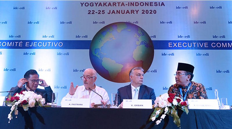 Centrist Democrat International (CDI) meeting in Indonesia with Hungarian Prime Minister Victor Orban attending.
