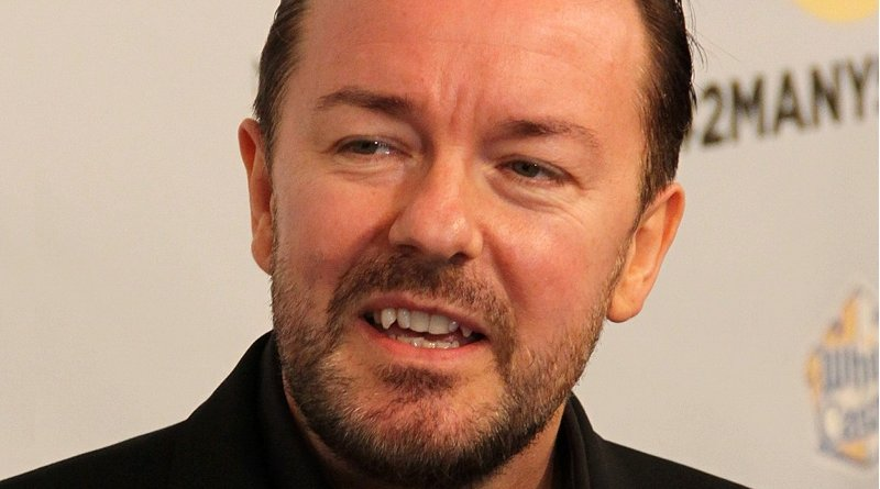 File photo of Ricky Gervais. Photo Credit: Thomas Atilla Lewis, Wikipedia Commons