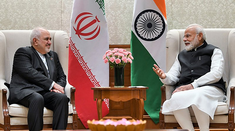 Iran's Foreign Minister Javad Zarif meets with India's Prime Minister Shri Narendra Modi. Photo Credit: India PM Office