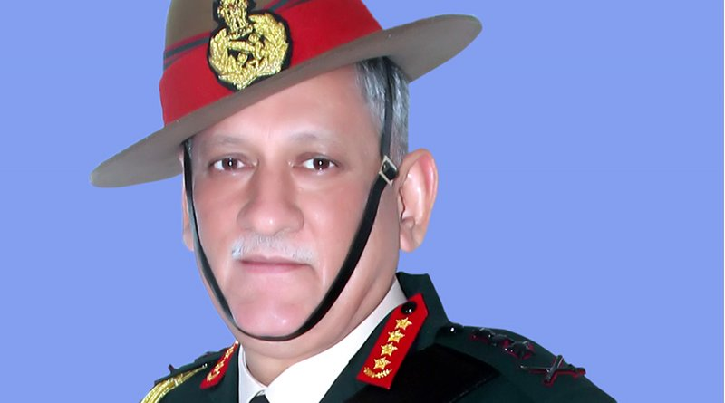 The portrait of India's first Chief of Defence Staff (CDS), General Bipin Rawat. Photo Credit: Ministry of Defence, Wikipedia Commons