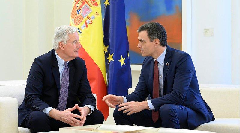 Spanish Prime Minister Pedro Sánchez and the EU's chief Brexit negotiator Michel Barnier. Photo Credit: La Moncloa
