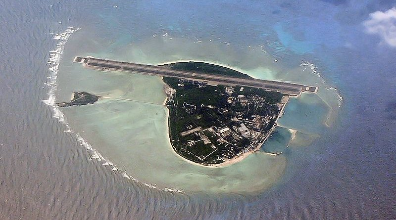 South-east facing aerial view of China-settled Woody Island. The island is also claimed by Taiwan and Vietnam. Photo Credit: Paul Spijkers, Wikipedia Commons