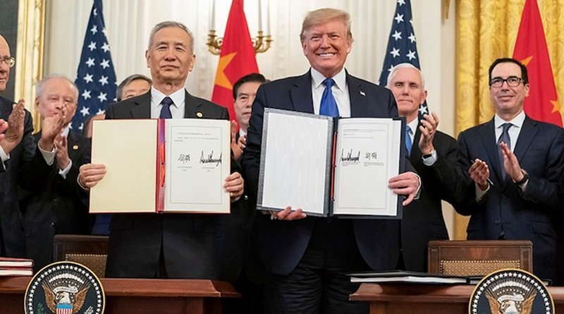 U.S. President Donald Trump withe Chinese Vice Premier Liu He. Source: The While House.