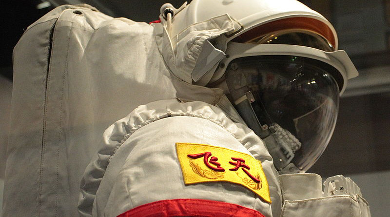 "Chinese EVA spacesuit ""Feitian"". Photo Credit: Johnson Lau, Wikipedia Commons"