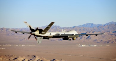 MQ-9 Reaper flies training mission over Nevada Test and Training Range, July 15, 2019 (U.S. Air Force/William Rio Rosado)