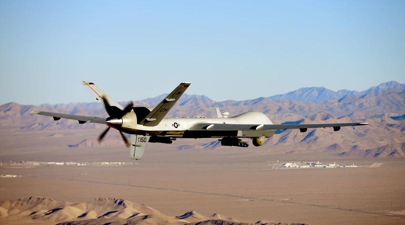 MQ-9 Reaper flies training mission over Nevada Test and Training Range, July 15, 2019 (U.S. Air Force/William Rio Rosado)