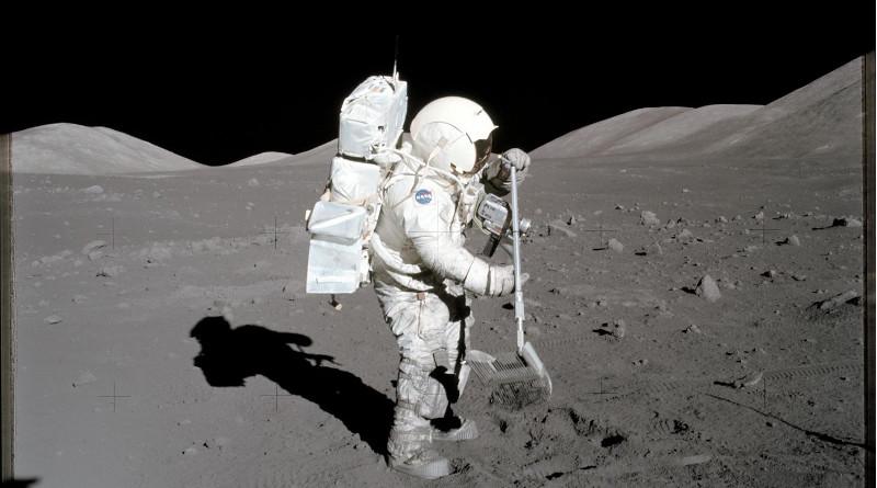Apollo 17 astronaut and geologist Harrison Schmitt in 1972. CREDIT: NASA