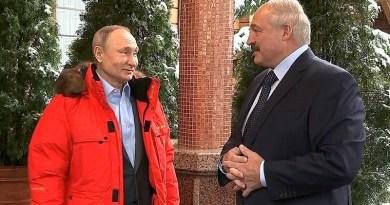 Russia's President Vladimir Putin with President of the Republic of Belarus Alexander Lukashenko. Photo Credit: Kremlin.ru