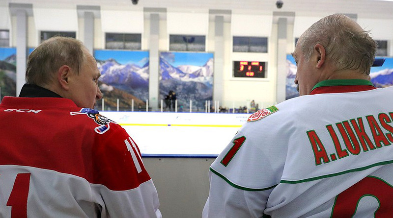 Russia's President Vladimir Putin and Belarus' President Alexander Lukashenko take part in a friendly ice hockey match. Photo Credit: Kremlin.ru