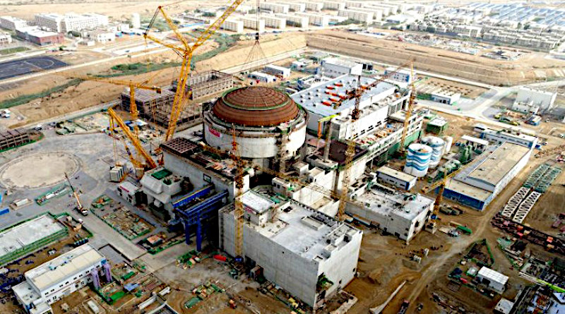 Construction of Karachi unit 2, pictured in June 2019 (Image: China National Nuclear Power)