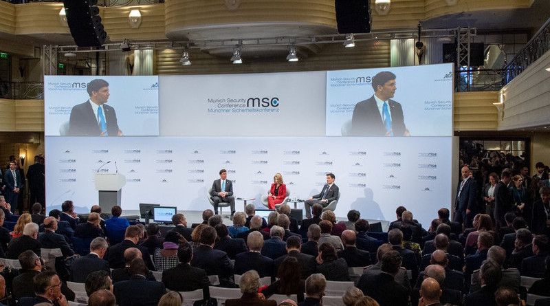 Defense Secretary Dr. Mark T. Esper provides remarks at the Munich Security Conference 2020, in Munich, Germany, Feb. 15, 2020. Photo Credit: DOD
