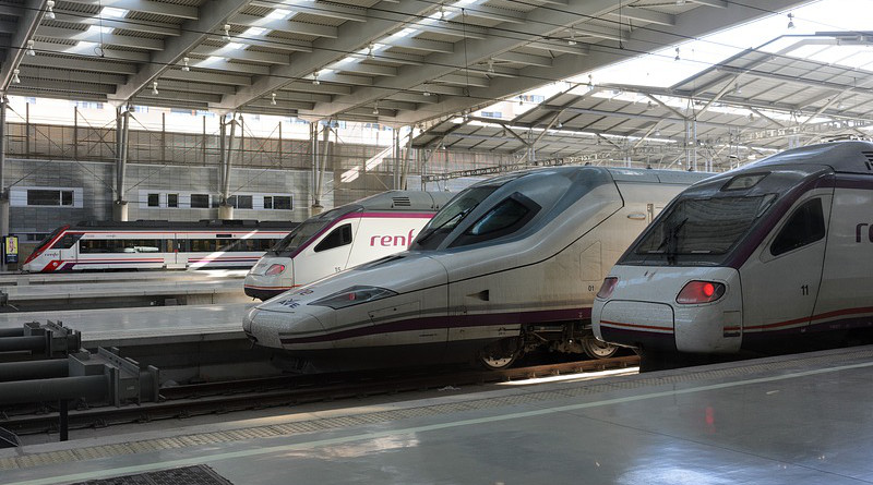 Renfe Ave Train Railway Spain Station Travel