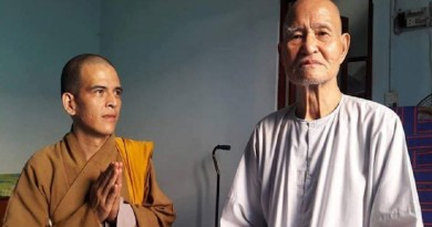Most Venerable Thich Quang Do (right). Photo courtesy of Thich Ngo Chanh's Facebook page