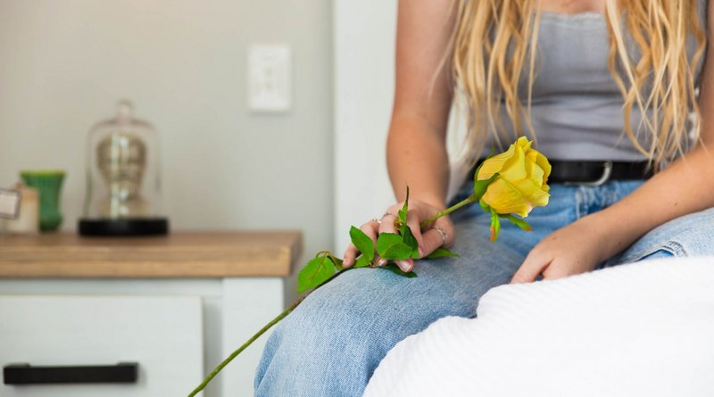 woman rose bed Photo by Michael Marescia at Unsplash