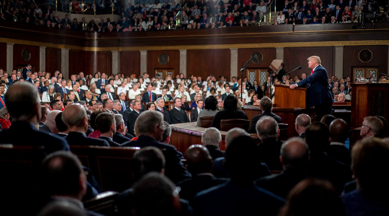 President Donald J. Trump delivers his State of the Union address in the House chamber at the U.S. Capitol in Washington, Feb. 4, 2020. Photo Credit: D. Myles Cullen, White House