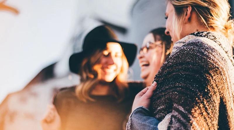 People Women Talking Laugh Happy Friends Casual