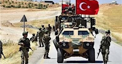 Troops from Turkey's military patrol Syria. Photo Credit: Tasnim News Agency