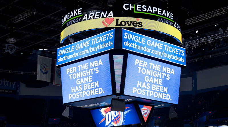 Wednesday's game between the Jazz and Oklahoma City Thunder at Chesapeake Energy Arena was canceled. Photo Credit: NBA