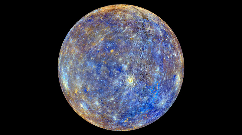 Mercury Planet Color Enhanced Space Sphere