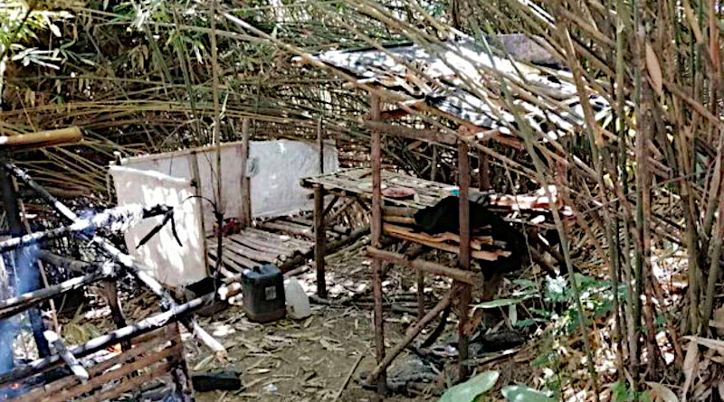 This photo released by the Philippine military shows a den that was home to suspected pro-Islamic State militants, who fled following air and artillery assaults in southern Maguindanao province, March 13, 2020. [Courtesy Armed Forces of the Philippines]