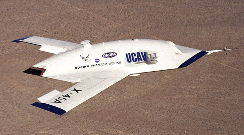 The X-45 Unmanned Combat Air Vehicle (drone) technology demonstrator that is eventually intended to fly high-risk air combat missions. Photo Credit: NASA/Dryden Flight Research Center/Jim Ross, Wikipedia Commons