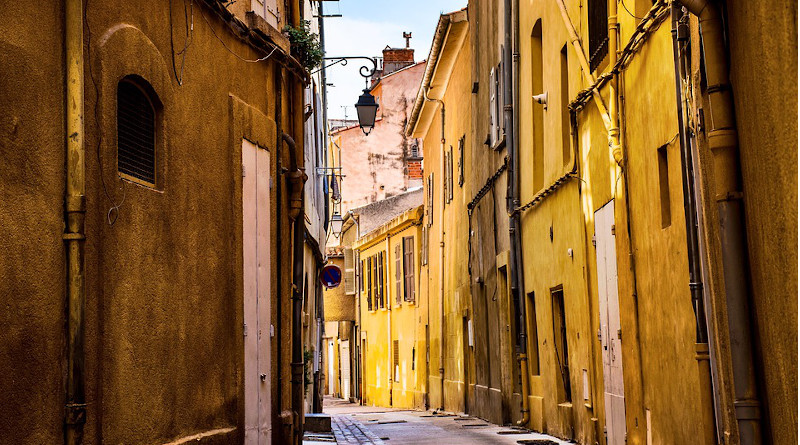 Empty street in Provence, France