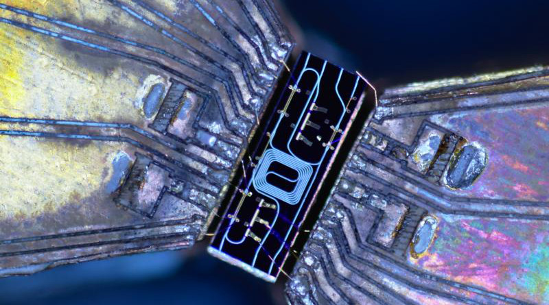 New chip-based devices contain all the optical components necessary for quantum key distribution. The cost-effective platform is designed to facilitate citywide networks. CREDIT Henry Semenenko, University of Bristol