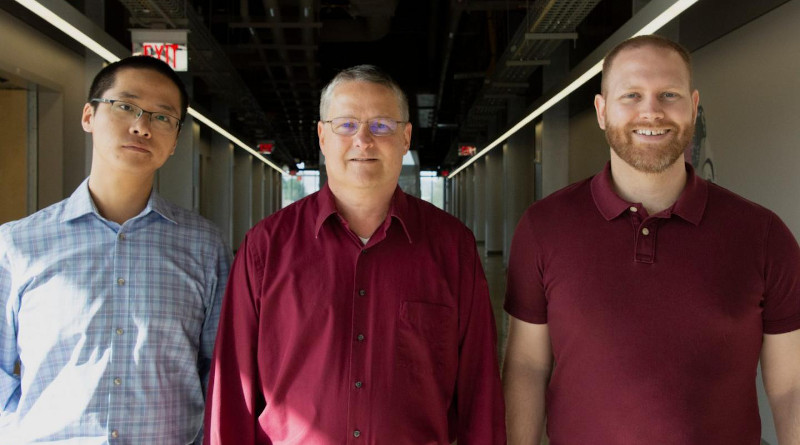 From left to right, Xinfeng Xupost, Nahum Arav, and Timothy Miller of the Department of Physics, part of the Virginia Tech College of Science. CREDIT Virginia Tech