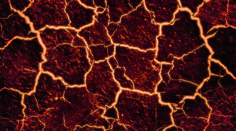 Earthquake Lava Cracked Background Fire Volcano Stone