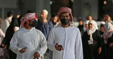 Men wearing masks in fight against coronavirus in Saudi Arabia. Photo Credit: Fars News Agency