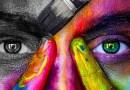 Girl Color Black And White Brush Rainbow Model