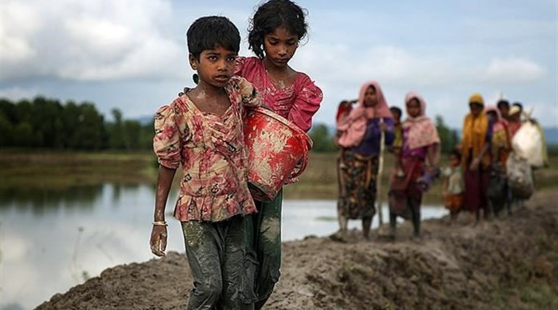 Internally displaced persons (IDPs) in Myanmar's northernmost state of Kachin. Photo Credit: Tasnim News Agency