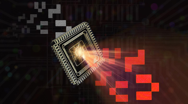 A picture is analyzed by the chip, which then provides the appropriate output signal. CREDIT Joanna Symonowicz, TU Wien