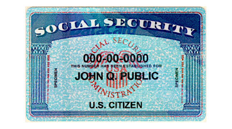 Social Security Card Number