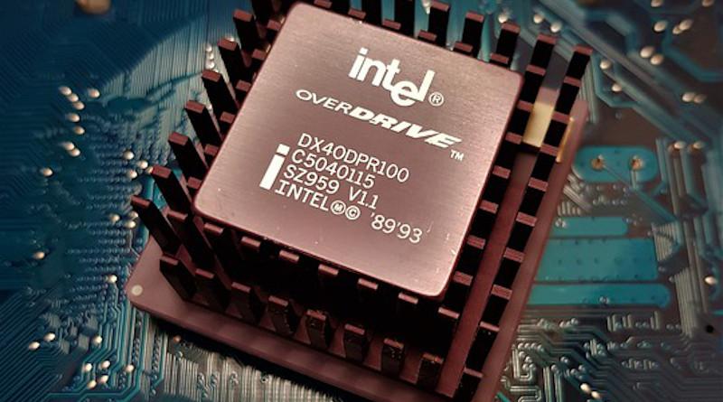Cpu Computer Technology 486 486dx4 100 Overdrive