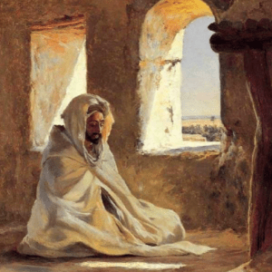 A Sufi in meditation