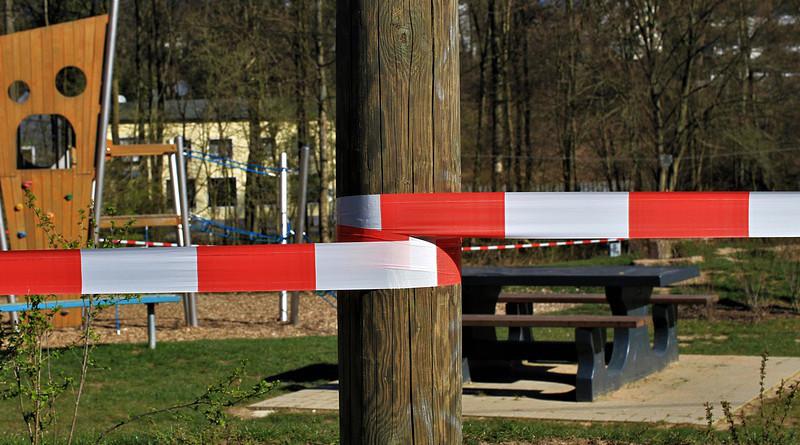 Playground Barrier Coronavirus Curfew Barrier Tape Infection