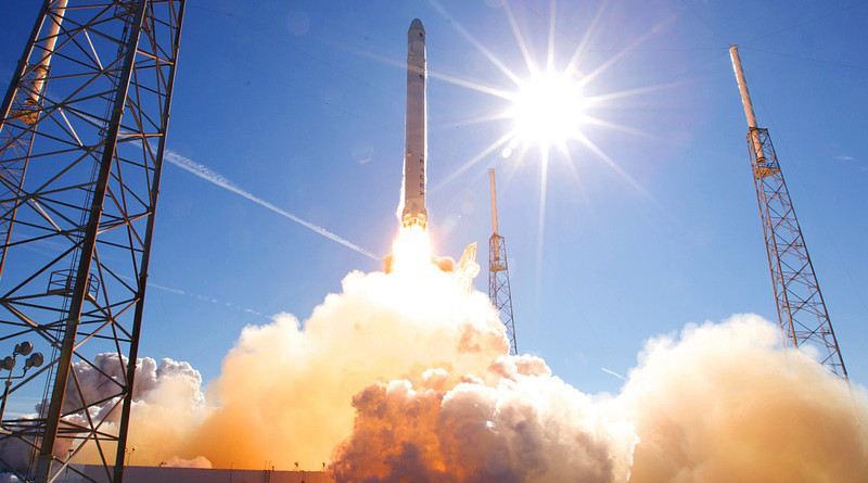 Rocket Launch Spacex Lift-Off Launch Flames