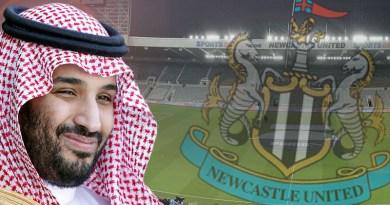 Montage of Saudi Arabia's Crown Prince Mohammed bin Salman and British soccer club Newcastle United.