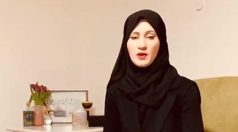 Asma Arian, the wife of detained Qatari royal Sheikh Talal Al-Thani. Photo Credit: Twitter https://twitter.com/asma_germany Screenshot of