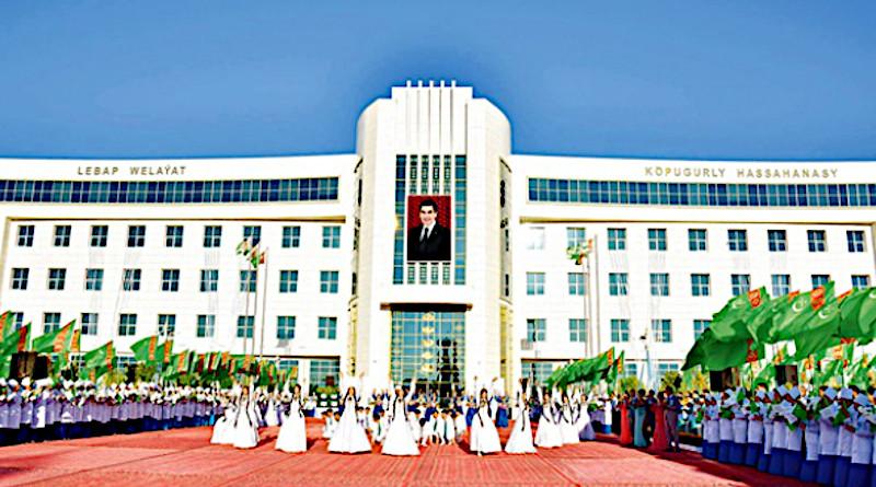 Opening of a new hospital in Turkmenabat city in July 2018. (Photo: turkmenistan.gov.tm)