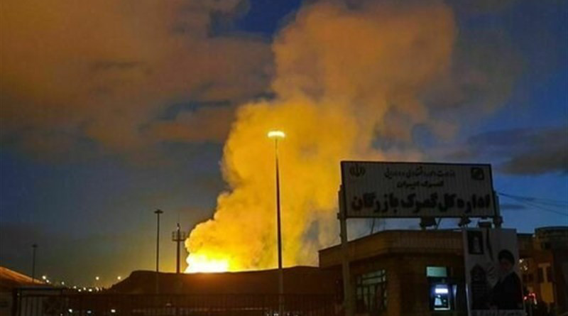 Iran's natural gas exports to Turkey have stopped following an explosion on a pipeline near their joint border. Photo Credit: Tasnim News Agency