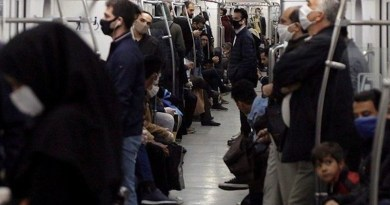 Iranians wearing masks on public transportation during coronavirus pandemic. Photo Credit: Iran News Wire