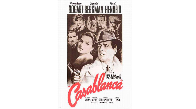 Casablanca (1942) had a male director, male producer, three male screenwriters, and seven featured male actors. CREDIT Bill Gold