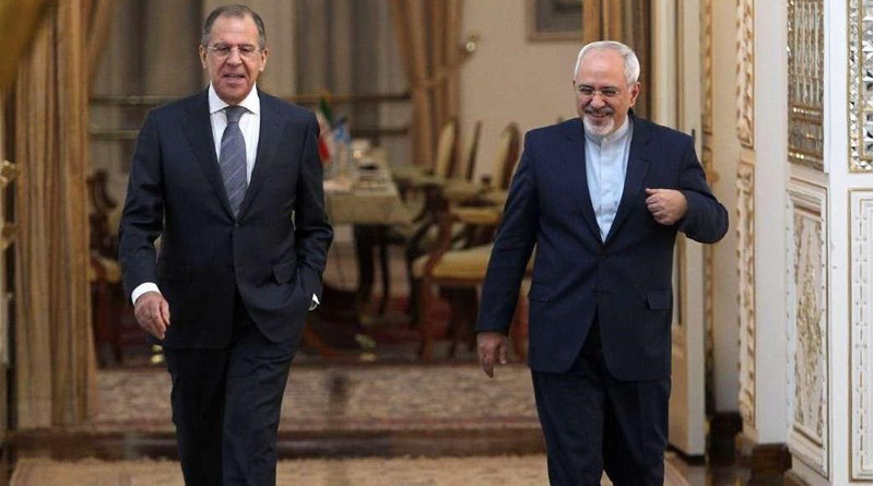 Iranian Foreign Minister Mohammad Javad Zarif and his Russian counterpart Sergei Lavrov. Photo Credit: Tasnim News Agency