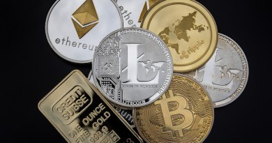 Cryptocurrencies Bitcoin Cryptocurrency Concept Blockchain Money Litecoin